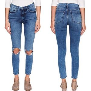 Free People High-Rise Busted Skinny NWT